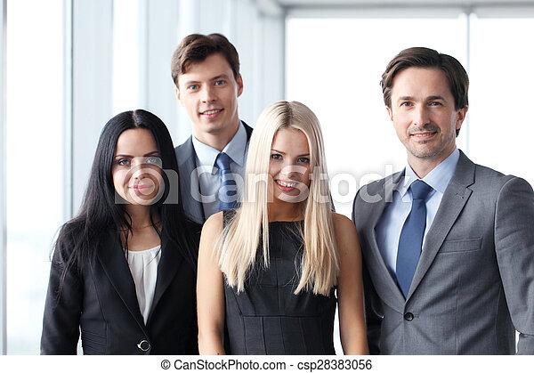 Happy business team - csp28383056