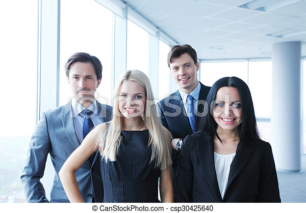 Happy business team - csp30425640