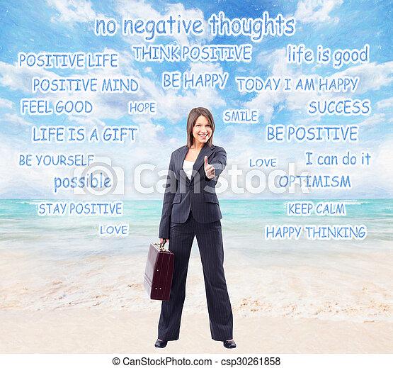 Happy business woman. - csp30261858