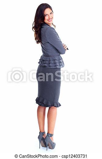 Happy Business woman. - csp12403731