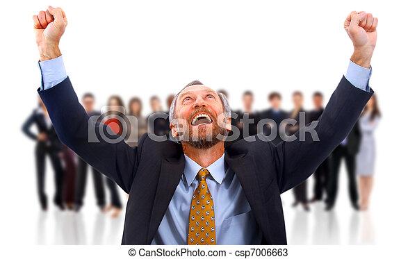 happy businessman - csp7006663