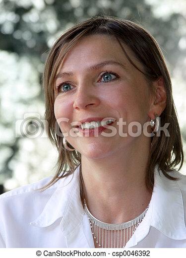 Happy businesswoman - csp0046392