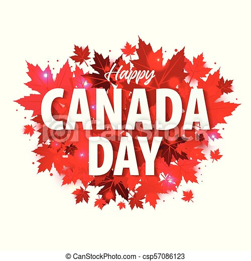 Happy canada day poster 1st july illustration greeting card with happy canada day poster 1st july illustration greeting card with canada maple leaves on white m4hsunfo