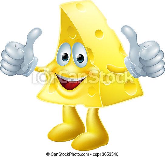 Happy cartoon cheese man - csp13653540