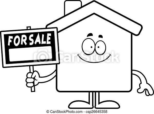 Happy Cartoon Home Sale - csp26645358