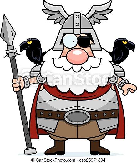Happy Cartoon Odin - csp25971894