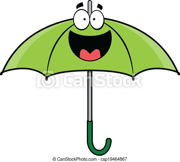 Happy cartoon umbrella. Cartoo...