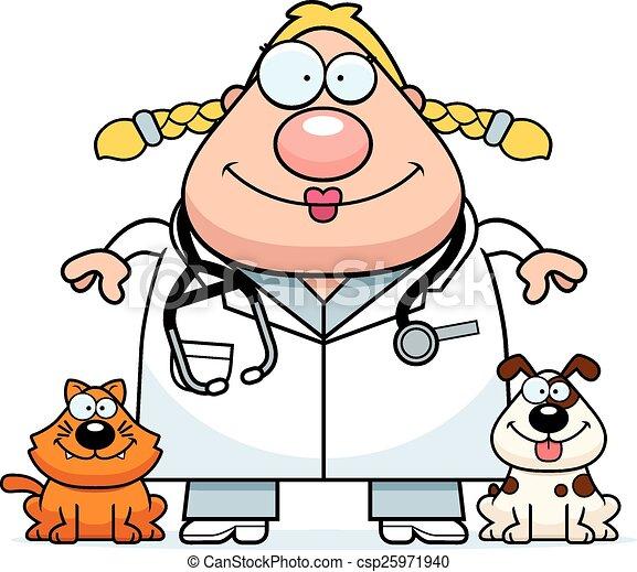 happy cartoon veterinarian a cartoon illustration of a eps rh canstockphoto co uk veterinarian cartoon clipart veterinarian tools clipart