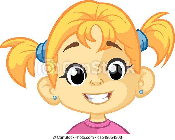 Girl Smiley Face Clipart