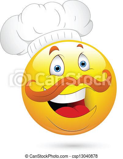 Happy Chef Smiley Face - csp13040878