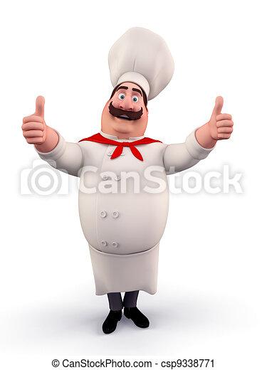 Happy chef with best luck - csp9338771
