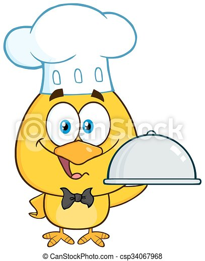 Happy Chef Yellow Chick  - csp34067968