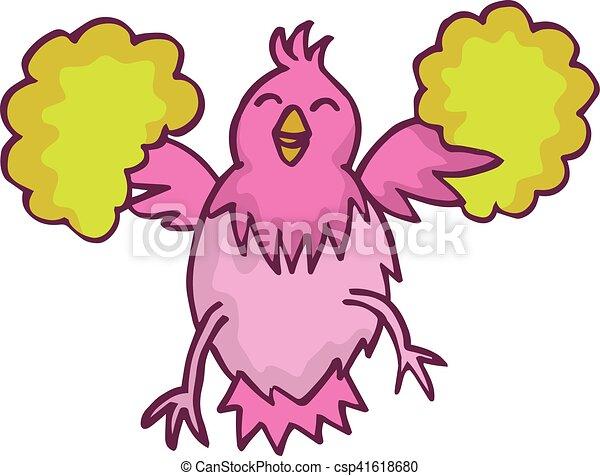 happy chicken cartoon character for kids design vector - Kids Cartoon Picture