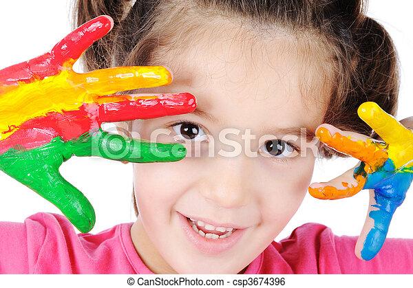 Happy childhood - csp3674396