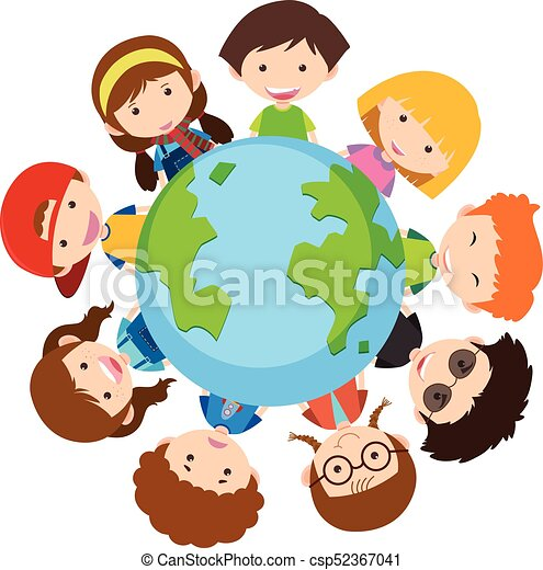 happy children around the world illustration eps vector search rh canstockphoto com