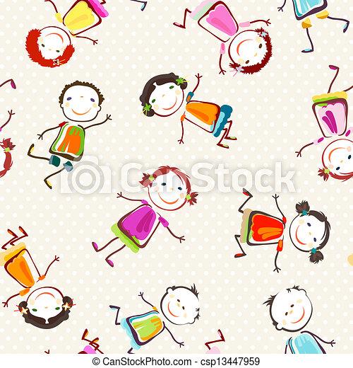 happy children - csp13447959