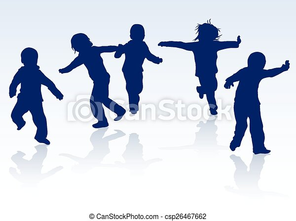 happy children silhouettes dancing together clip art vector search rh canstockphoto co uk happy children's day clipart black and white happy children's day clipart images