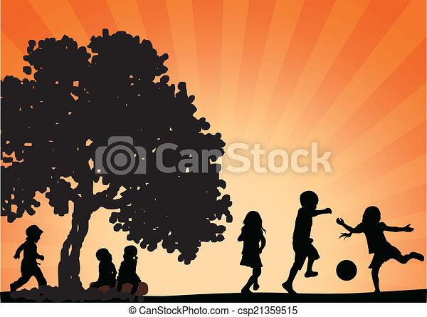 happy children - csp21359515