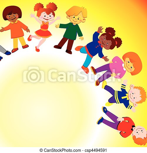 Happy children. - csp4494591