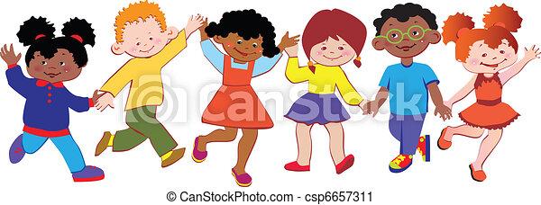 Happy children. - csp6657311