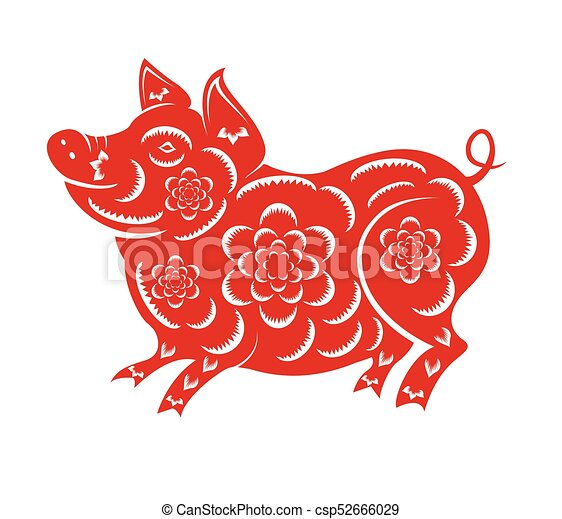 happy chinese new year 2019 year of the pig lunar new year vector - Happy Lunar New Year In Chinese