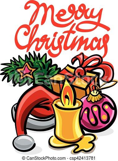 happy christmas card - csp42413781