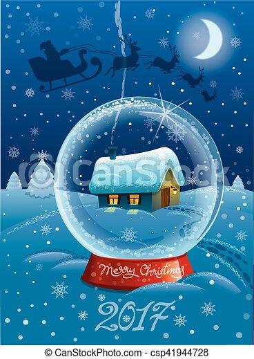 happy christmas card - csp41944728