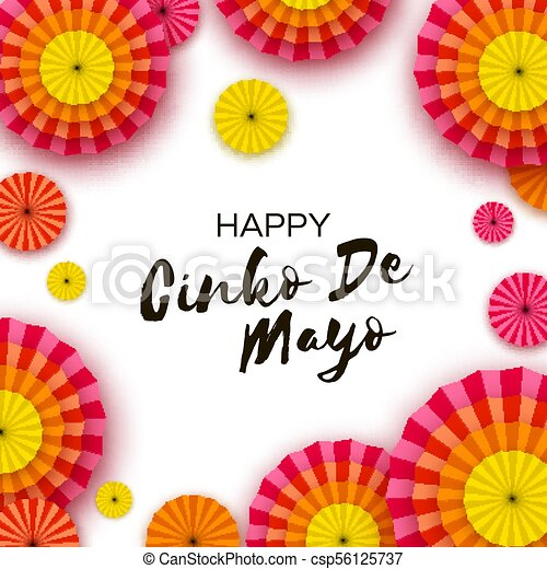 Happy cinco de mayo greeting card colorful paper fan mexico happy cinco de mayo greeting card colorful paper fan mexico carnival holidays vector m4hsunfo