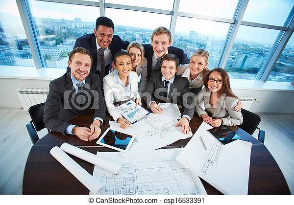 Happy co-workers - csp16533391