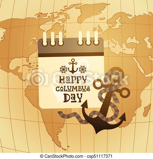 Happy columbus day america discover holiday poster greeting card happy columbus day america discover holiday poster greeting card retro world map csp51117371 gumiabroncs Choice Image
