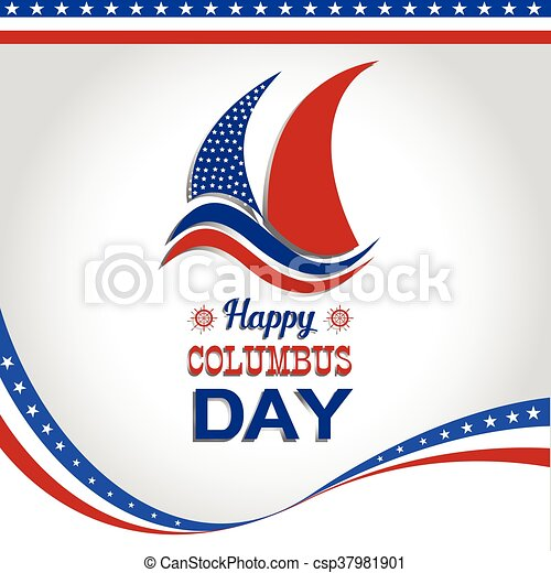 happy columbus day vector illustration vector clipart search rh canstockphoto co uk columbus day holiday clipart Happy Columbus Day Clip Art
