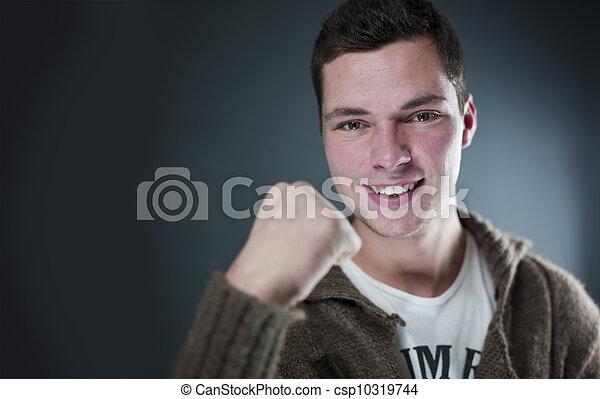 Happy confident young adult - csp10319744