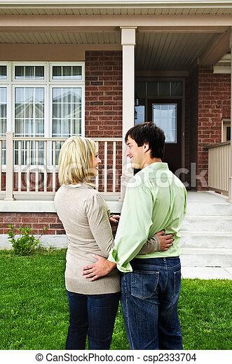 Happy couple at home - csp2333704