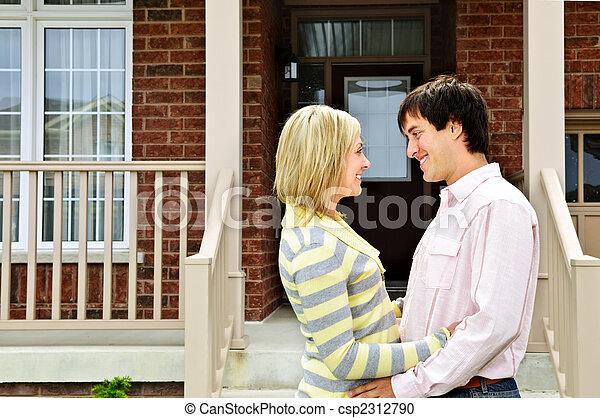 Happy couple at home - csp2312790