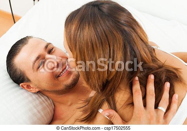 Happy couple having sex - csp17502555