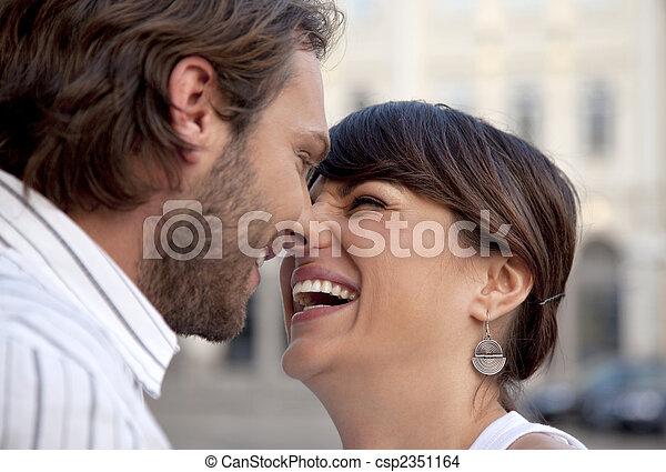 happy couple laughing - csp2351164