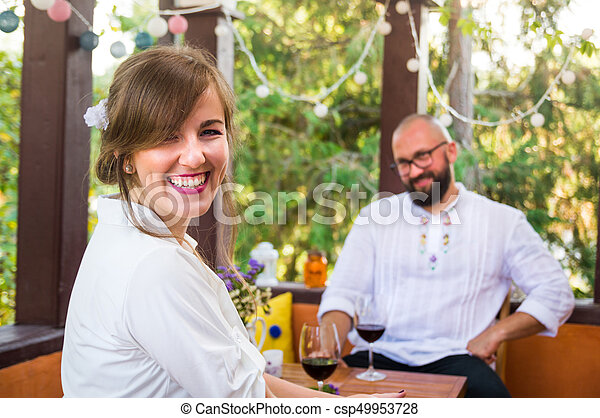 Happy couple on a date - csp49953728
