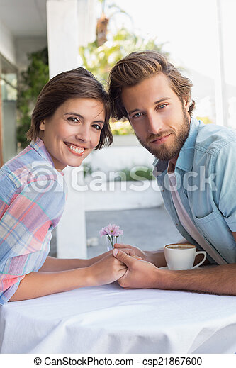 Happy couple on a date - csp21867600