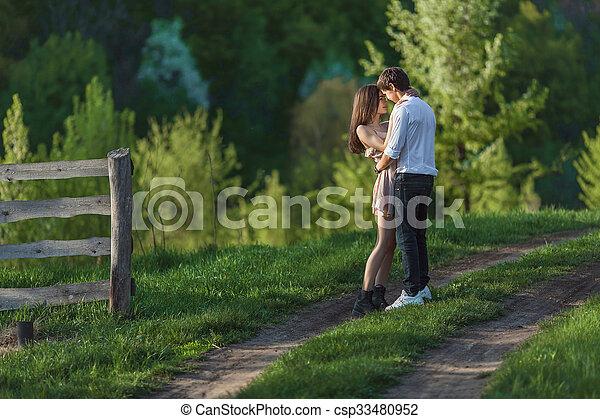 Happy couple - csp33480952