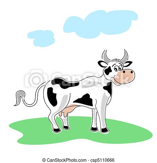 happy cow - csp5110666