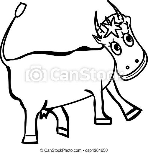 happy cow - csp4384650
