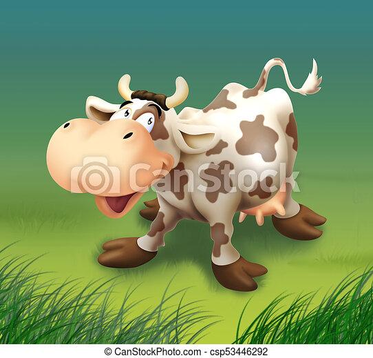 Happy cow - csp53446292