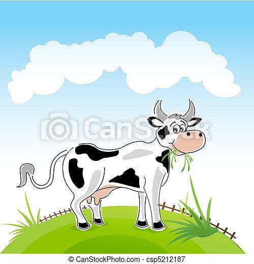happy cow - csp5212187
