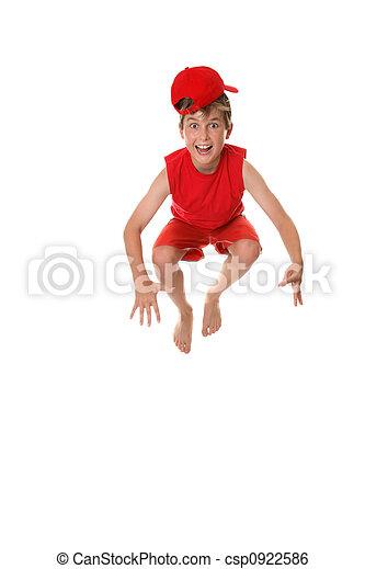 Happy crazy  jumping boy - csp0922586