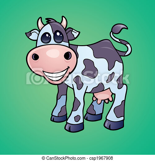 Happy Dairy Cow - csp1967908