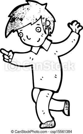 Happy Dancing Boy Cartoon