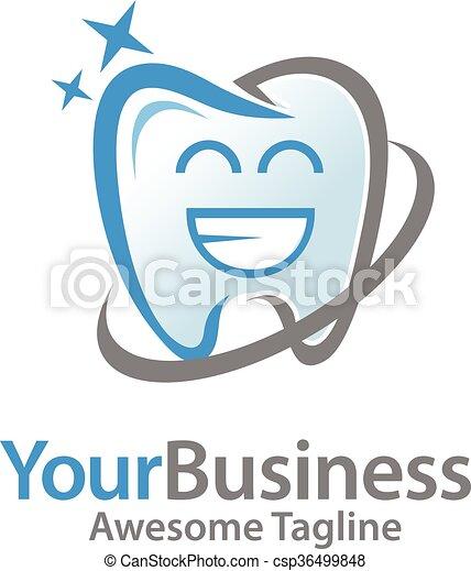 happy dental logo simple and creative happy dental smile toot logo