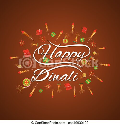 Happy diwali card design happy diwali greeting card with fire happy diwali card design csp49930102 m4hsunfo