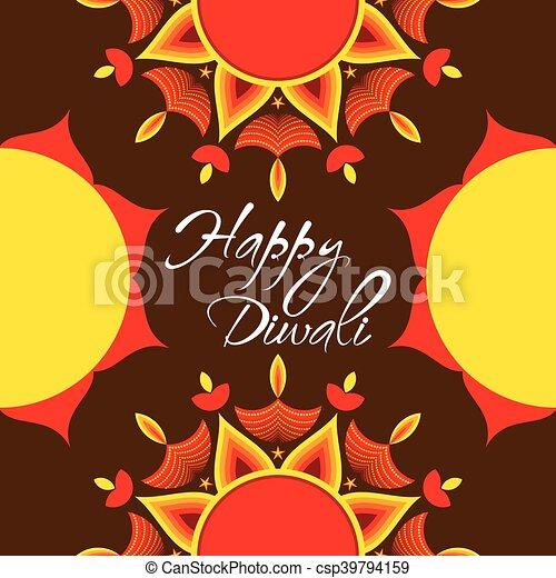 Happy diwali festival greeting card creative happy diwali festival happy diwali festival greeting card csp39794159 m4hsunfo