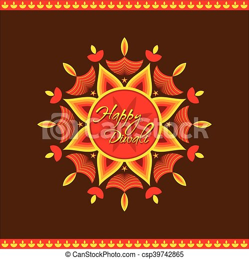Creative happy diwali greeting card design vector clip art vector happy diwali greeting card design csp39742865 m4hsunfo